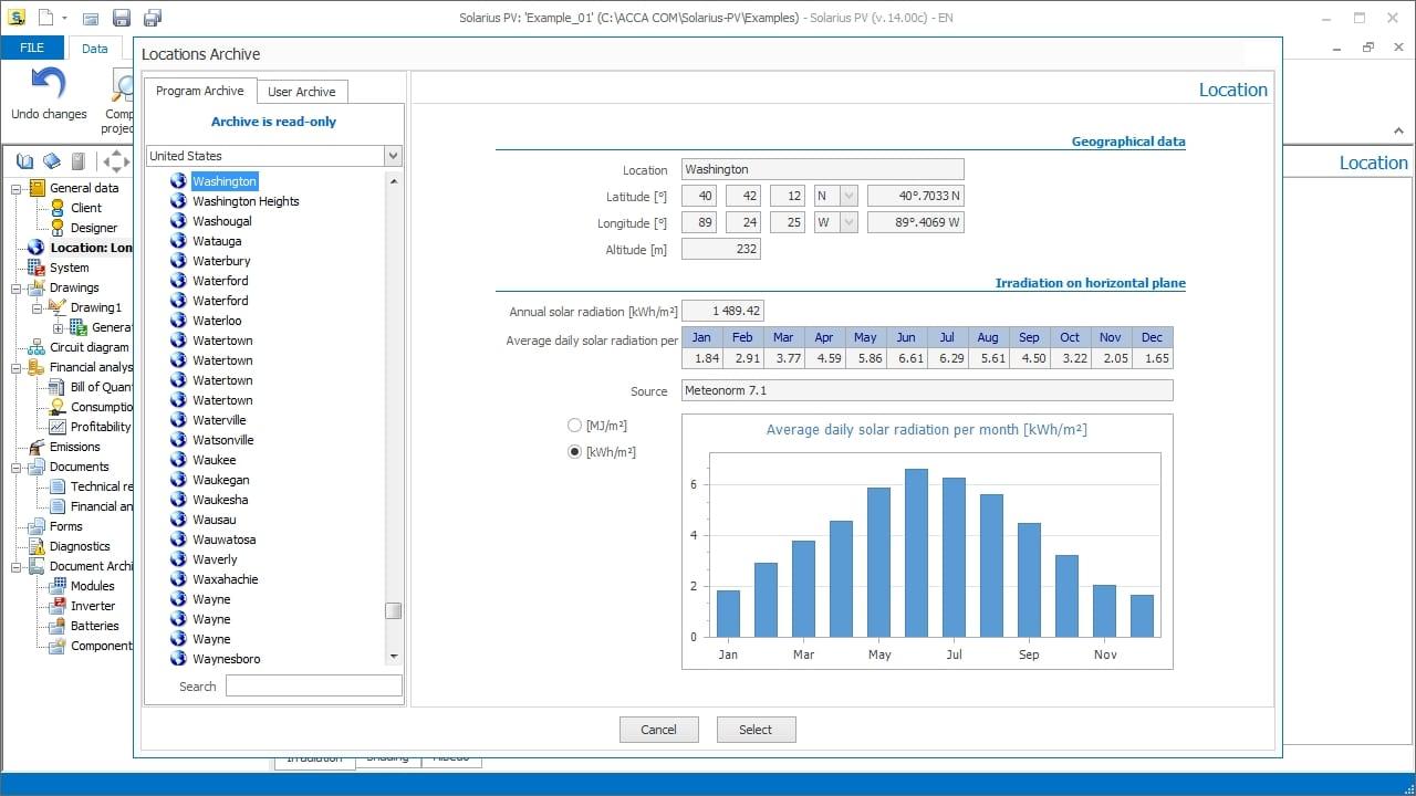Solar Pv Design Software Solarius Acca Wiring Diagram Meteonorm Irradiance Estimate