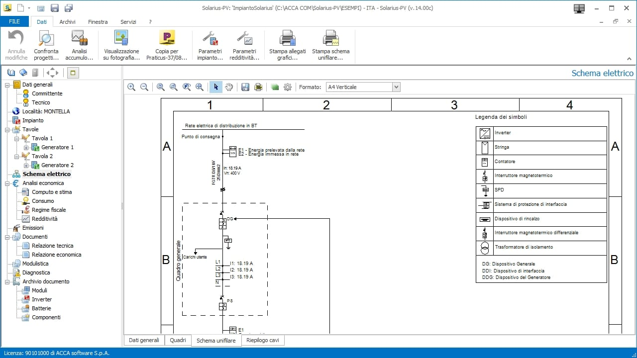Solar Pv Design Software Solarius Acca Old Electrical Wiring Methods Free Download Diagram Schematic Photovoltaic Single Line