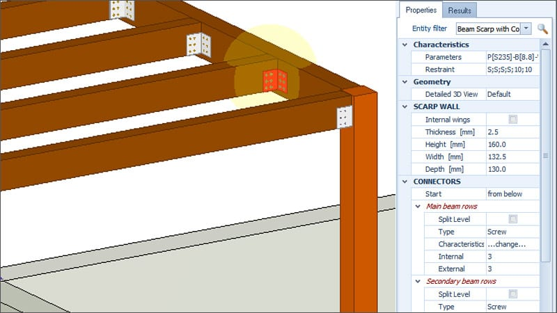 Design and calculate solid wood and glulam elements | EdiLus CONCRETE | ACCA software