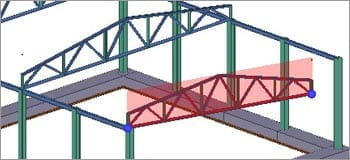 Steel trusses and bracing