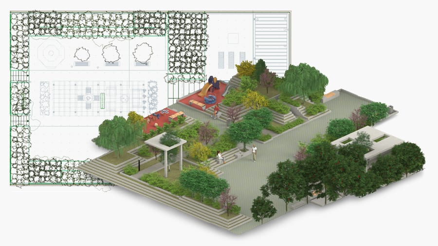 Projete jardins 2/3D - Edificius LAND - ACCA software