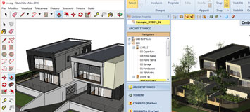 Integration between BIM software with Sketchup® and BLENDER