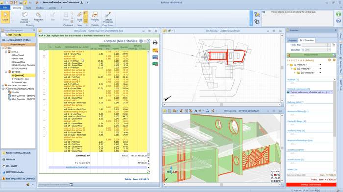 Video preview - BIM 5D quantity takeoff - Edificius - ACCA software