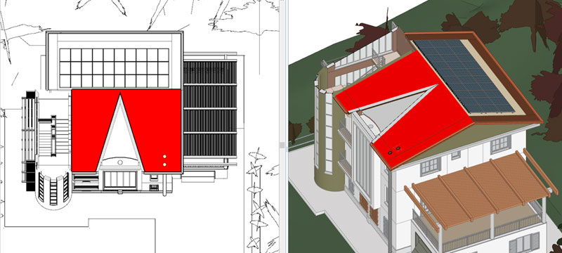 Integration of photovoltaic system with BIM model and architectural project - Solarius PV - ACCA software