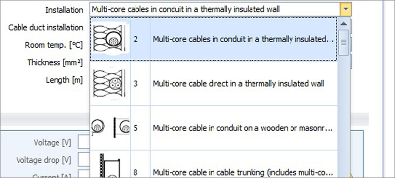 Dimensioning of photovoltaic system cables - Solarius PV - ACCA software