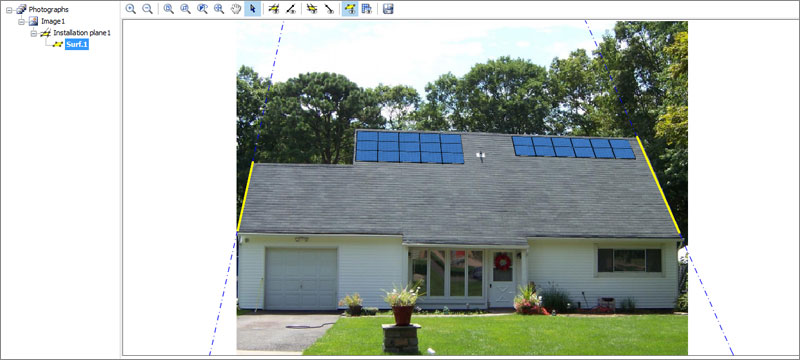 Photovoltaic system photo insertion - Solarius PV - ACCA software
