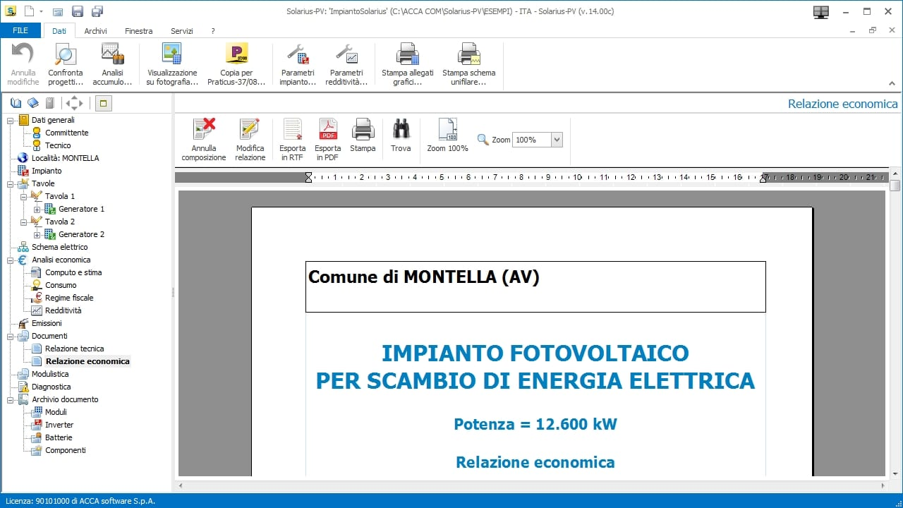 business plan fotovoltaico xls