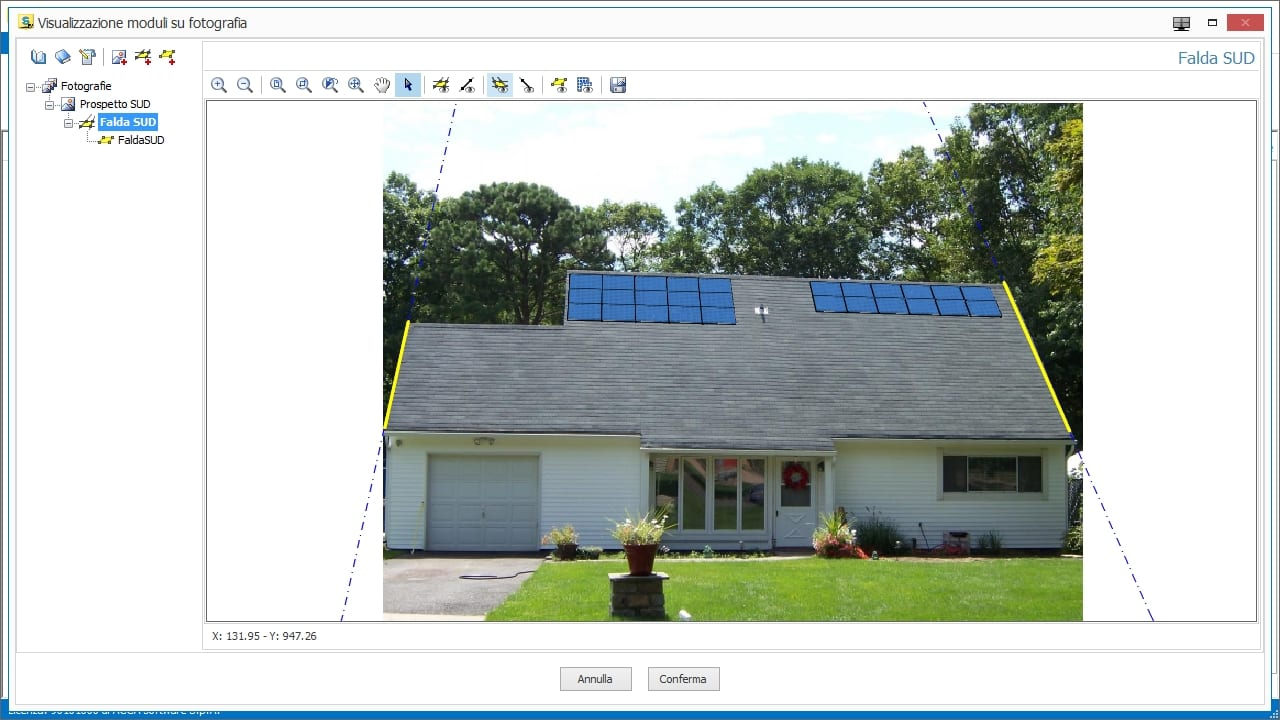 Photovoltaic system scene photo-montage
