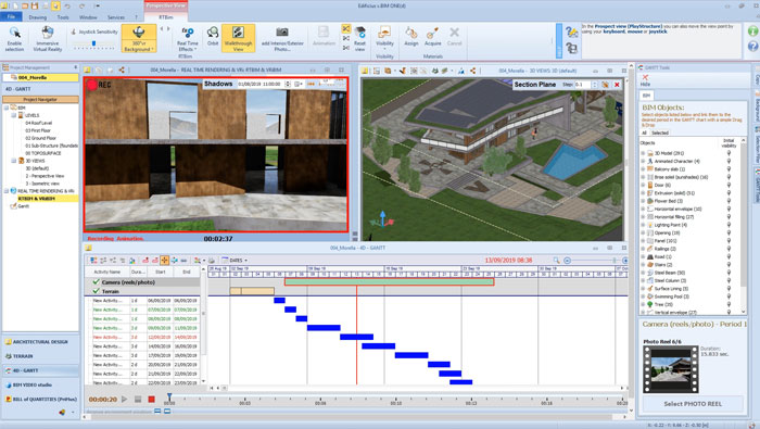 bim 4d gantt - Edificius - ACCA software