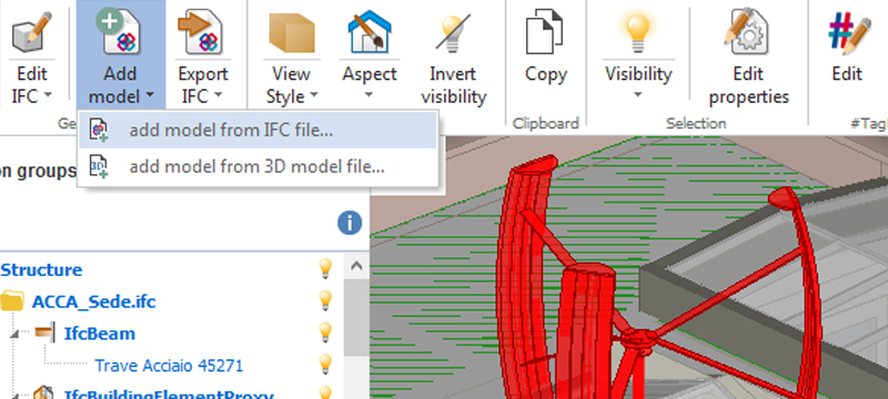 Comparar os modelos 3D - usBIM.viewer+ - ACCA software