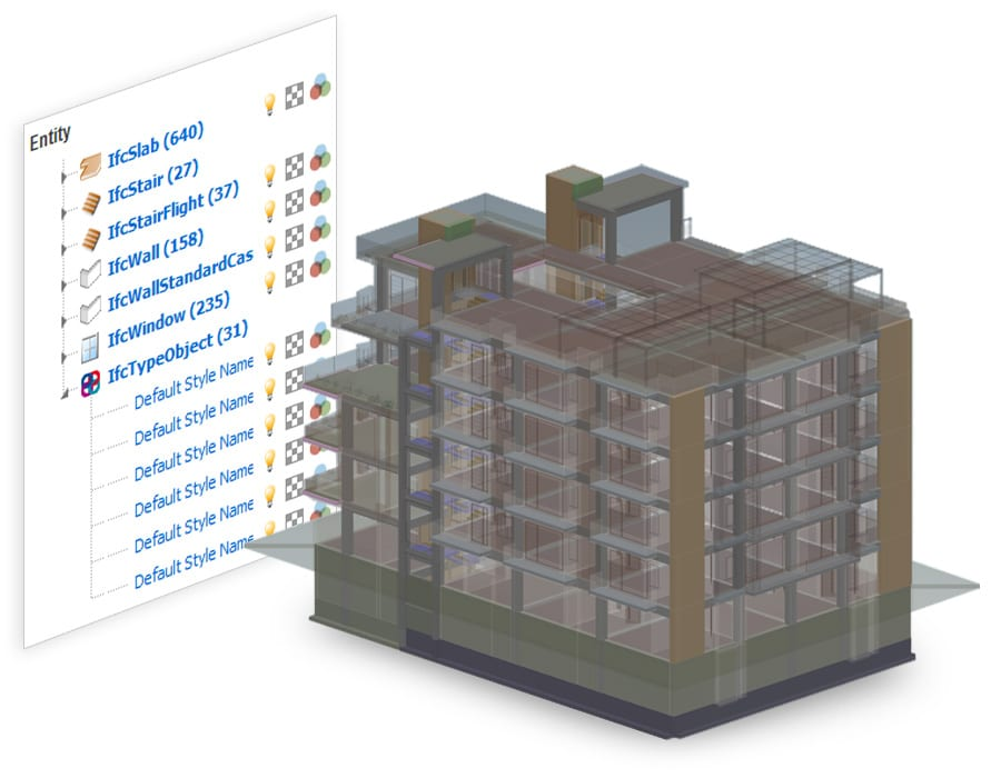Abres visualizas y federas archivos IFC contemporáneamente - usBIM.viewer+ - ACCA software
