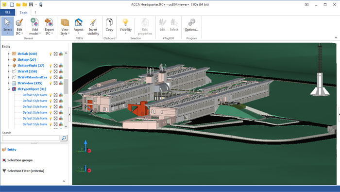 Visualizador IFC | usBIM.viewer+ | ACCA software