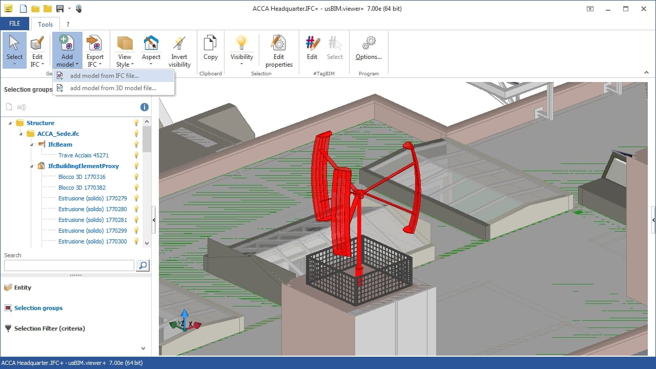 Comparas modelos 3D - usBIM.viewer+ - ACCA software