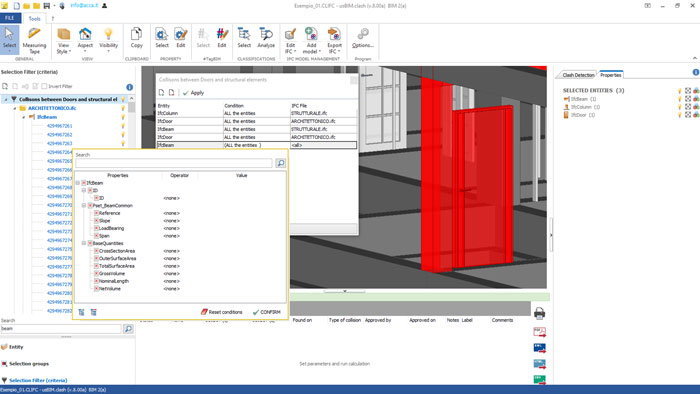 Checking BIM element interferences and conflicts management - usBIM.clash - ACCA software